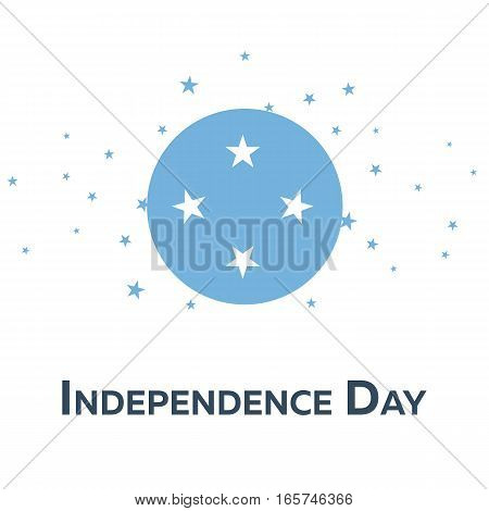 Independence Day Of Micronesia. Patriotic Banner. Vector Illustration.