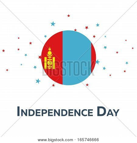 Independence Day Of Mongolia. Patriotic Banner. Vector Illustration.