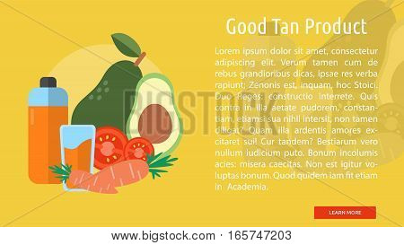 Good Tan Product Conceptual Banner Great flat illustration concept icon and use for healthy, beauty, fashion and much more.