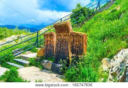 The Old Khachkars Of Sevanavank