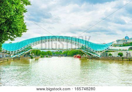 The Peace Bridge In Tbilisi