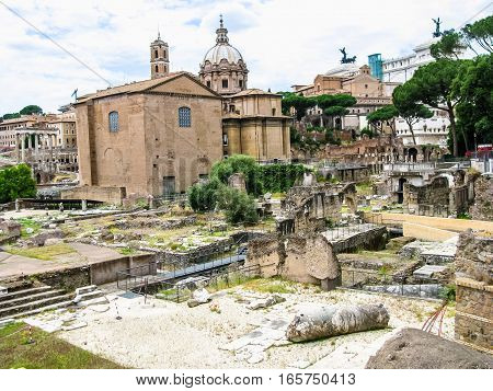 Hdr Roman Forum Rome