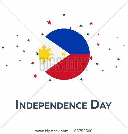 Independence Day Of Philippines. Patriotic Banner. Vector Illustration.