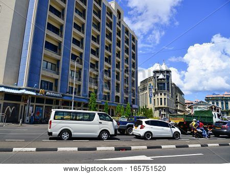 Cityscape Of Port Louis, Capital Of Mauritius