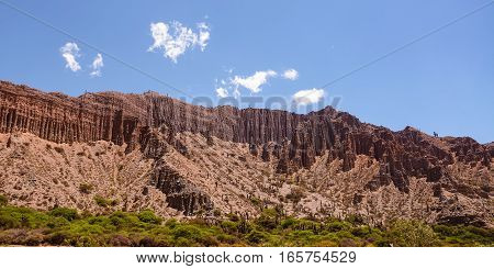 Badlands of mountain in Jujuy's province (Argentina)