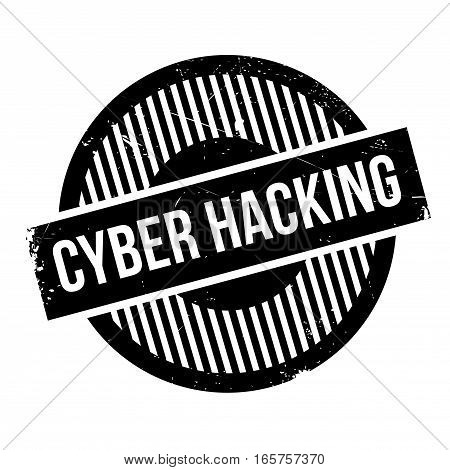 Cyber Hacking rubber stamp. Grunge design with dust scratches. Effects can be easily removed for a clean, crisp look. Color is easily changed.