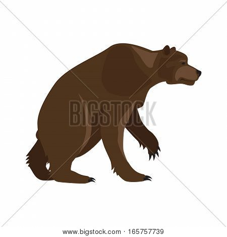 Prehistoric animal. Vector cartoon ancient mammal ice age extinct animal, bear