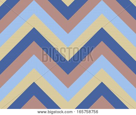Seamless geometric strip pattern. Stripy texture. Zigzag line background. Diagonal strips. Light, gray, blue, beige, soft colored. Winter theme. Vector