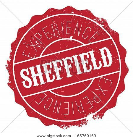 Sheffield stamp. Grunge design with dust scratches. Effects can be easily removed for a clean, crisp look. Color is easily changed.