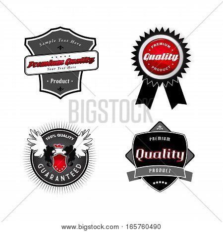 Set of vintage Quality labels. Vector art