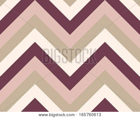 Striped, zigzagging seamless pattern. Zigzag line texture. Stripy geometric background. Brown, maroon, beige olive colored. Vector