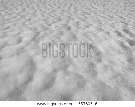 Abstract white fresh snow texture detail background.