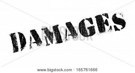 Damages rubber stamp. Grunge design with dust scratches. Effects can be easily removed for a clean, crisp look. Color is easily changed.