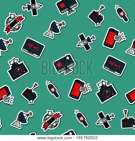 Colored mass media pattern. Vector illustration, EPS 10