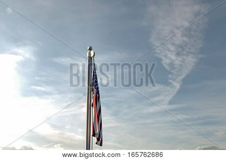 3d illustration of the great american flag