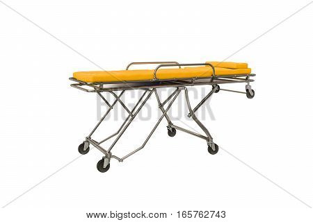 3d illustration of an emergency stretcher isolated on white background