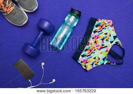 Workout Essentials Sport And Healthy Life Concept