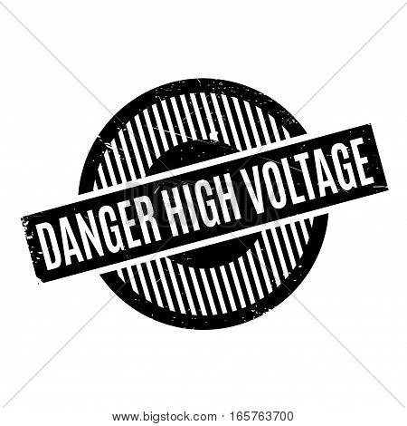 Danger High Voltage rubber stamp. Grunge design with dust scratches. Effects can be easily removed for a clean, crisp look. Color is easily changed.