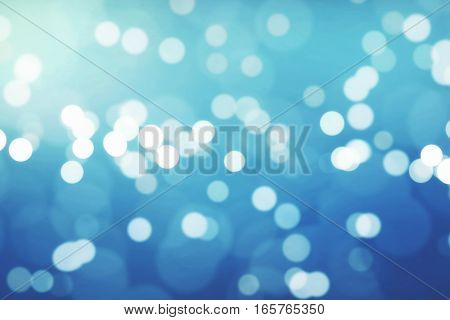 Christmas Gradient Blue Background With Bokeh Flowing, Festive Holiday Happy New Year