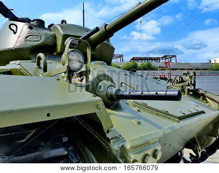 Upper Pyshma, Russia - July 02, 2016: Light tank M3A1