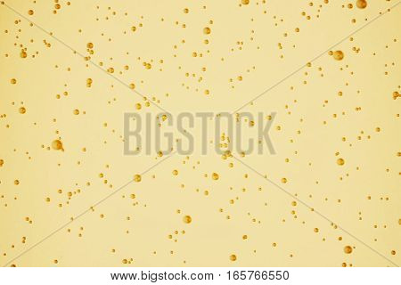 Champagne Golden Bubbles Inside A Flute, Gold Background Effect, Holiday