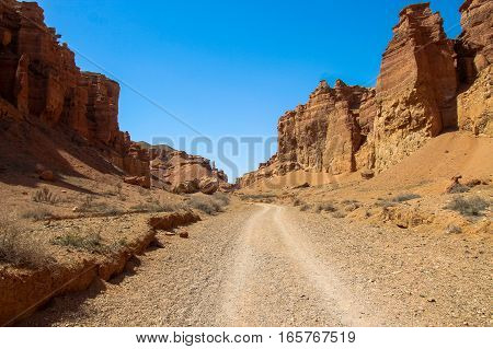 Charyn Canyon And The Valley Of Castles, National Park, Kazakhstan