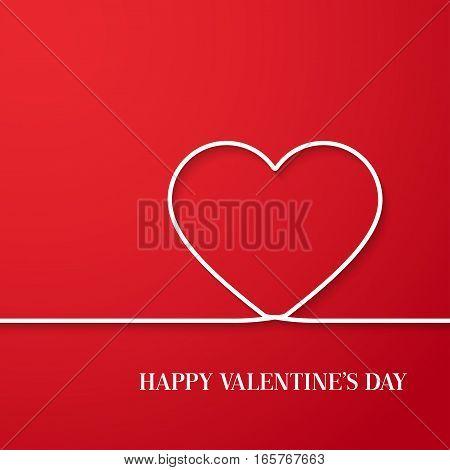 Happy Valentines Day creative card. Vector illustration.