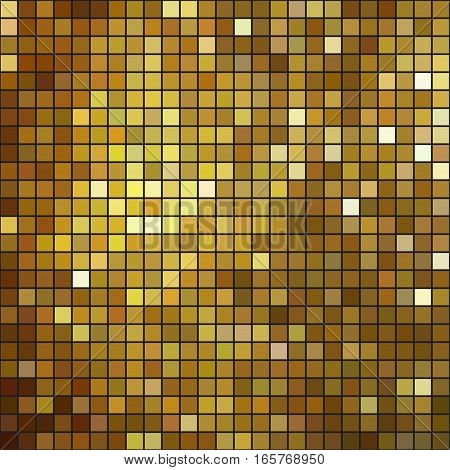 Glittering Gold mosaic background pattern. Vector illustration.