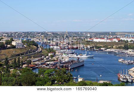 In the port of Sevastopol, Crimea, Ukraine