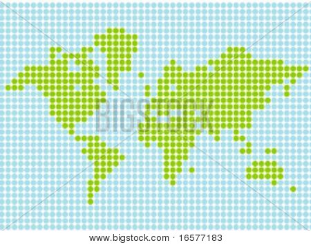 Stylized world map in vector format. Scalable and can be colored at will.