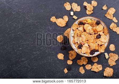 Breakfast With Cereal Flakes