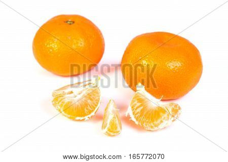 Fresh clementine isolated on a white background