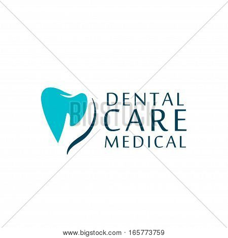 Can be used as logo for dental, dentist or stomatology clinic, teeth care and health concept.