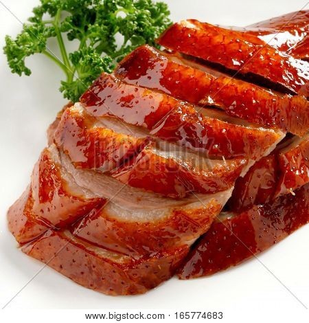 Slices Of Roast Duck Traditional Chinese Cuisine