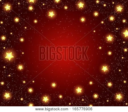 Holiday Background With Shining Stars