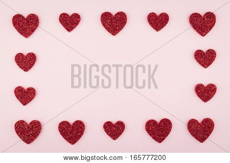 Array Red Heart Frame