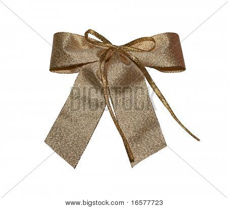 Bronze giftbow with clipping path