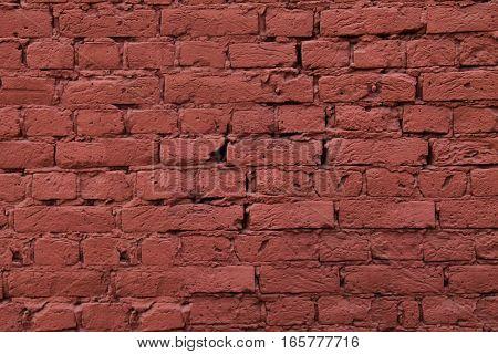 old vintage dark red brick wall background