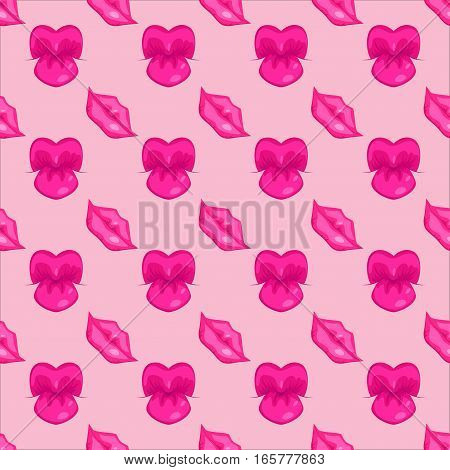 High detailed glossy woman lips and mouth seamless pattern vector illustration. Valentine human sensuality element. Beautiful love female symbol glamour and shiny design.