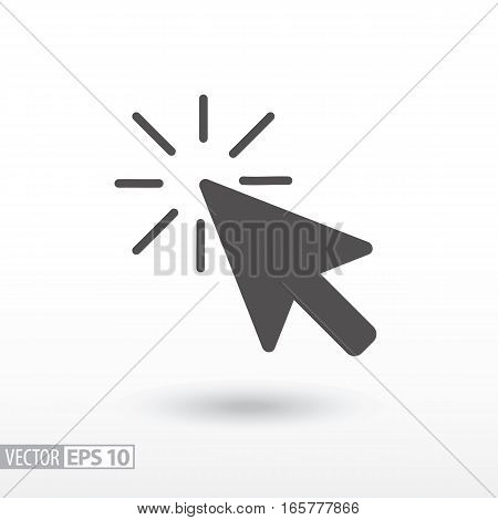 Click flat icon. Sign Click. Vector logo for web design, mobile and infographics. Vector illustration eps10. Isolated on white background.