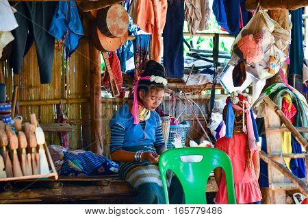 Long-necked Kayan Womam In Thailand