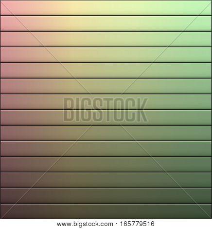 Vector gradient line background. Abstract color-line wallpaper. Storage door.