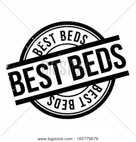 Best Beds rubber stamp. Grunge design with dust scratches. Effects can be easily removed for a clean, crisp look. Color is easily changed.