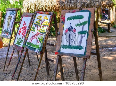 Elephant Paintings For Sale In Thai Elephant Show