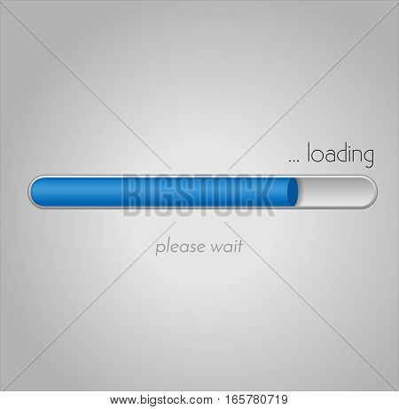 Vector loading bar. Progress of downloading or uploading. Collection of preloader illustrations.