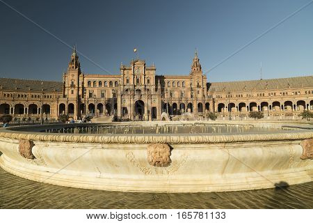 Sevilla (Andalucia Spain): the square known as Plaza de Espana