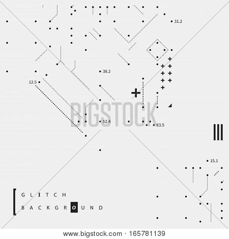 Glitch Text Background With Simple Design Elements. Useful For Posters And Covers