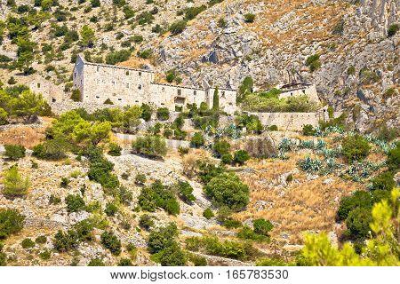 Abandoned Stone Village In Brac Desert