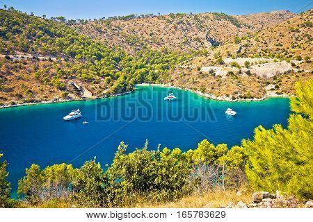 Yachting Bay On Brac Island Coast