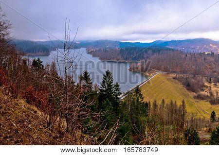 Lokvarsko Lake In Gorski Kotar Winter View